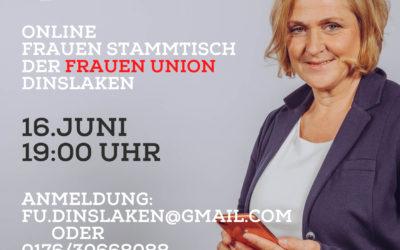 Online Frauen Stammtisch der Frauen Union Dinslaken