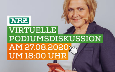Virtuelle Podiumsdiskussion am 27.08.2020 um 18 Uhr