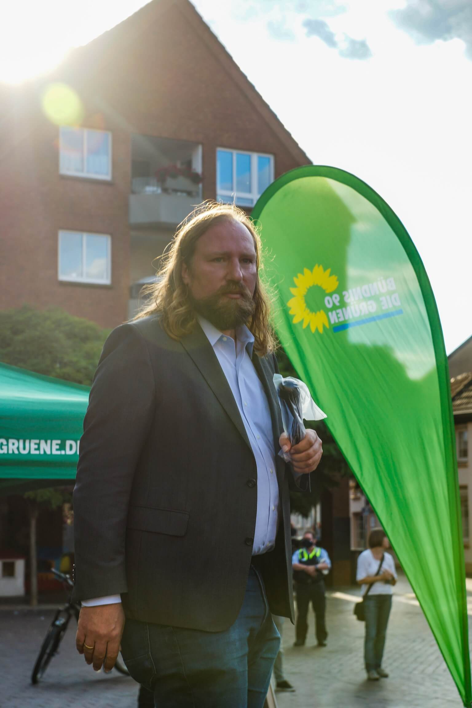 Anton Hofreiter zu Gast auf dem Altmarkt in Dinslaken