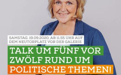Talk um Fünf vor Zwölf rund um politische Themen am 19 September 2020 um 11:55 Uhr – Neutorplatz Dinslaken
