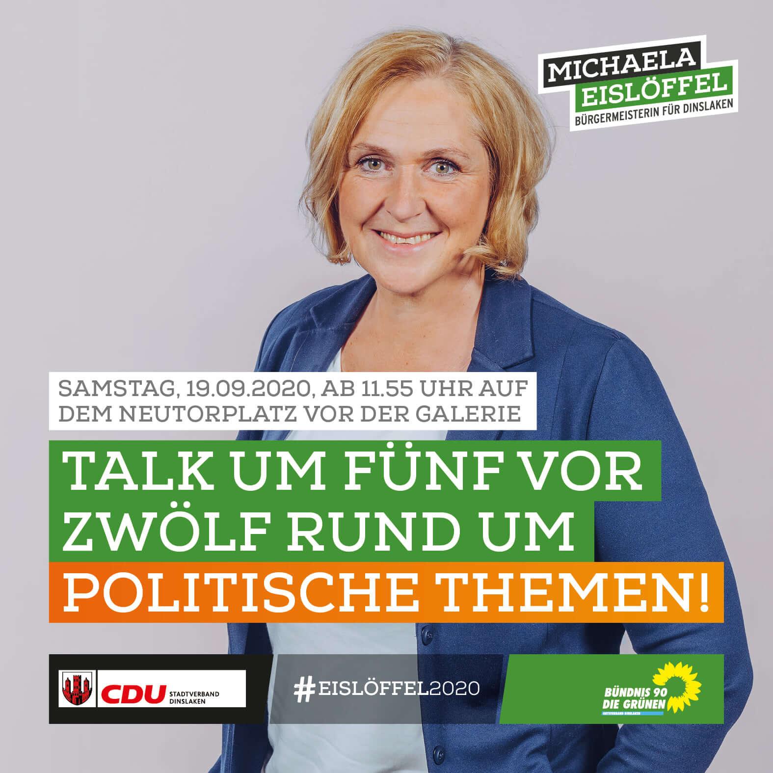 Michaela Eislöffel - Talk um Fünf vor Zwölf rund um politische Themen am 19 September 2020 Neutorplatz Dinslaken